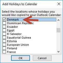 Add holidays to calendar