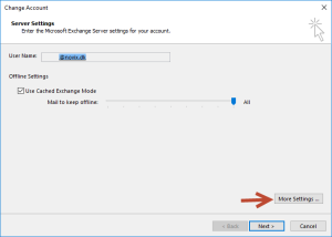 Disable Cached Exchange mode