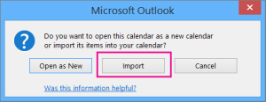 Combine Google calendar with Outlook