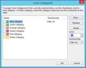 Personalize Outlook categories