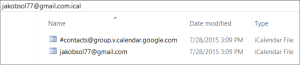 Merge Google calendar to Outlook