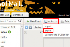 AOL Mail Export