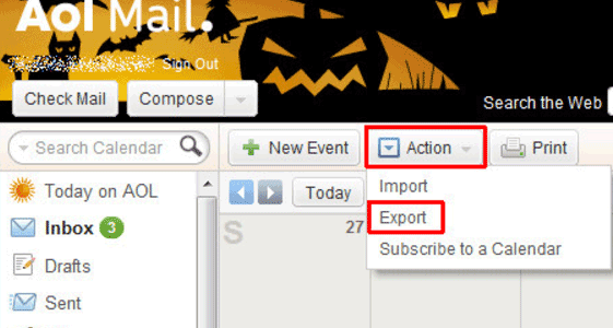 Importing Your AOL Calendar to Outlook Calendar